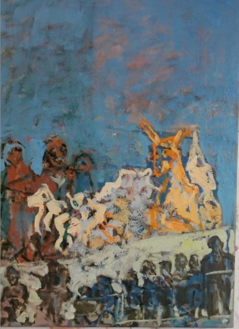 Alien Invasion, 87 x 67 cm, oil, 2013