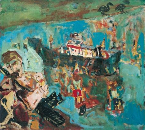 Baywatch 91 x 102 cm, oil, 1999