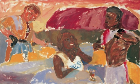 Cathy and Nicky enjoy a drink at Ulhuru 91 x 152 cm, oil, 2000 Museum Victoria