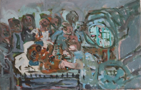 Group Work 40 x 70,cm, oil, 2013