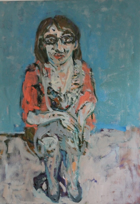 The Dietitian (Fiona) 87 x 66 cm, oil, 2013