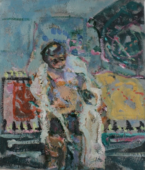 White Robe 46 x 40 cm, oil, 2013
