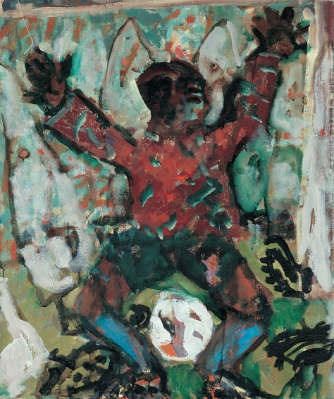 Own Goal 92 x 78 cm, oil, 1999