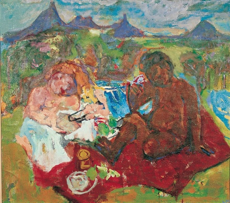 Picnic at Glasshouse 96 x 110, oil, 1996 Caboolture Shire Council