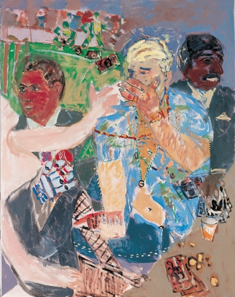 Three cricketers 107 x 84 cm, oil, 2000