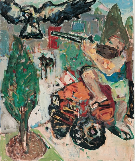 Vigilante 102 x 84 cm, oil, 2003