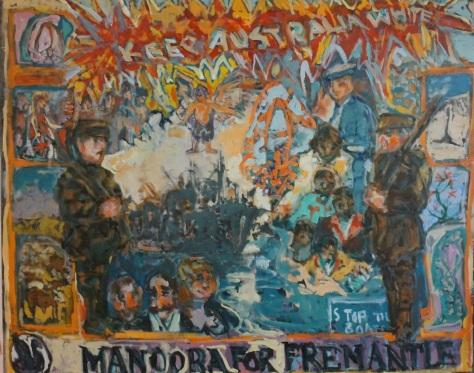 Manoora For Fremantle 122 x 137cm, oil, 2013