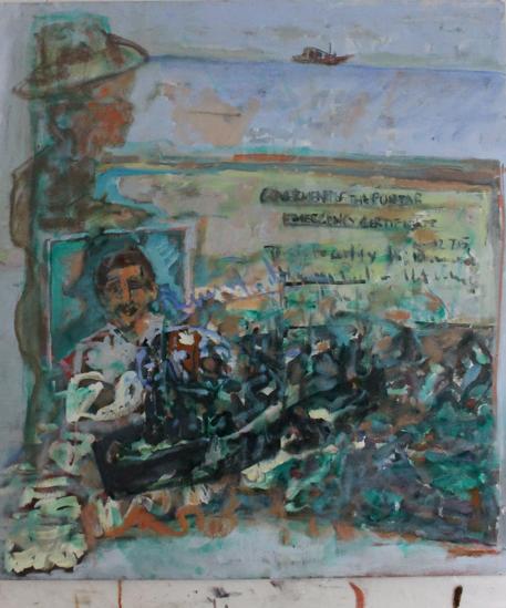 Emergency (Certificate) no.3 92 x 84 cm, oil, 2013