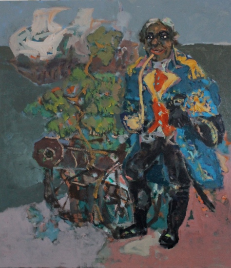 Self-portrait with cannon102x92